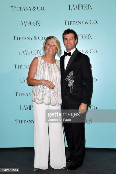 Carlo Mazzoni and Raffaella Banchero attend Keep On Shining Party Tiffany and Co For Lampoon Magazine at Conservatorio Di Venezia on September 2 2017...
