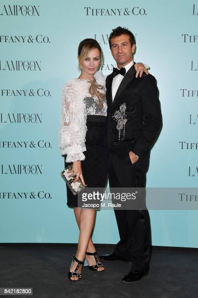 Carlo Mazzoni and Violante Placido attend Keep On Shining Party Tiffany and Co For Lampoon Magazine at Conservatorio Di Venezia on September 2 2017...