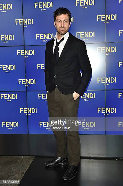 Carlo Mazzoni arrives at the Fendi show during Milan Fashion Week Fall/Winter 2016/17 on February 25 2016 in Milan Italy