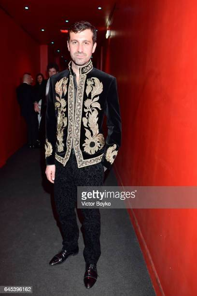 Carlo Mazzoni arrives at the Lampoon AristoFunk Party during Milan Fashion Week Fall/Winter 2017/18 on February 25 2017 in Milan Italy