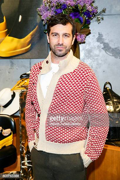 Carlo Mazzoni attended the Bally Men's Autumn Winter 2016 Presentation on January 17 2016 in Milan Italy