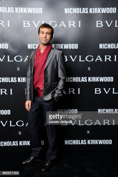 Carlo Mazzoni attends a party celebrating 'Serpenti Forever' By Nicholas Kirkwood for Bvlgari on September 20 2017 in Milan Italy