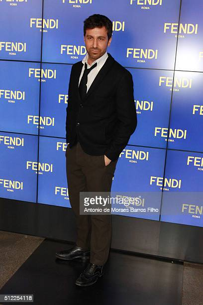 Carlo Mazzoni attends at the Fendi show during Milan Fashion Week Fall/Winter 2016/17 on February 25 2016 in Milan Italy