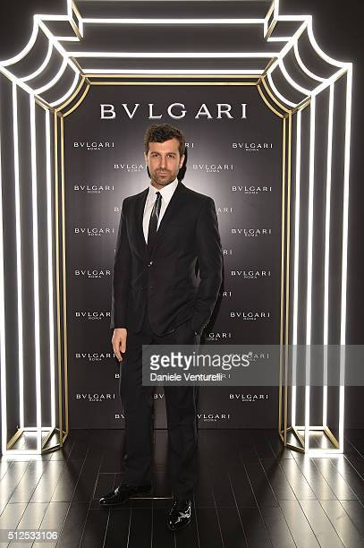 Carlo Mazzoni attends Bulgari dinner and after party during Milan Fashion Week FW16 at Hotel Bulgari on February 26 2016 in Milan Italy