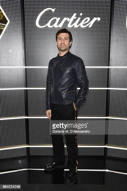Carlo Mazzoni attends Cartier Garage Cocktail Party during Milan Design Week 2017 on April 3 2017 in Milan Italy