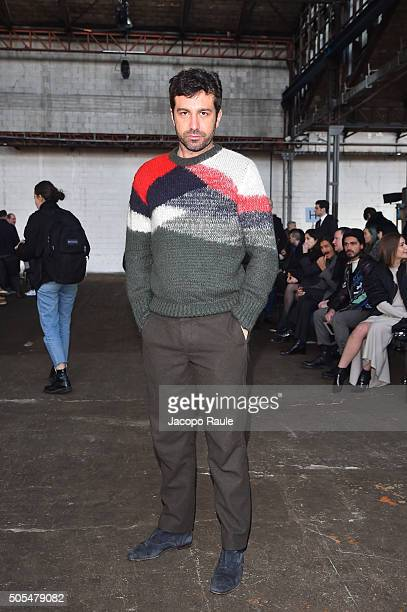 Carlo Mazzoni attends the Diesel Black Gold show during Milan Men's Fashion Week Fall/Winter 2016/17 on January 18 2016 in Milan Italy