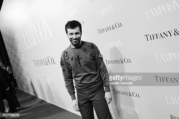 Carlo Mazzoni attends The Fashionable Lampoon cocktail and dinner for The DOT Circle in via Bagutta on April 16 2016 in Milan Italy
