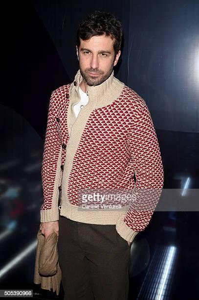 Carlo Mazzoni attends the Moncler Gamme Bleu show during Milan Men's Fashion Week Fall/Winter 2016/17 on January 17 2016 in Milan Italy