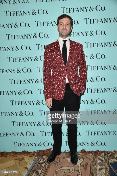 Carlo Mazzoni attends the TiffanyCo And Luisa Beccaria party during Milan Fashion Week Fall/Winter 2017/18 on February 23 2017 in Milan Italy