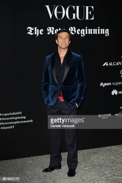 Carlo Mazzoni attends the Vogue Italia 'The New Beginning' Party during Milan Fashion Week Spring/Summer 2018 on September 22 2017 in Milan Italy