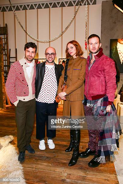 Carlo Mazzoni Candela Novembre and Paolo Stella with Bally Design Director Pablo Coppola at the Bally Men's Autumn Winter 2016 Presentation on...