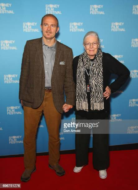 Carlo Nero and Vanessa Redgrave arrive ahead of the Australian premiere of 'Sea Sorrow' during the Sydney Film Festival at State Theatre on June 17...