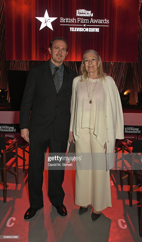Carlo Nero and Vanessa Redgrave attend a champagne reception at the London Evening Standard British Film Awards at Television Centre on February 7...