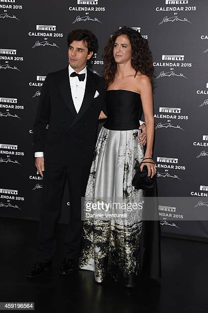 Carlo Noseda and Giada Tronchetti Provera attends the 2015 Pirelli Calendar Red Carpet on November 18 2014 in Milan Italy
