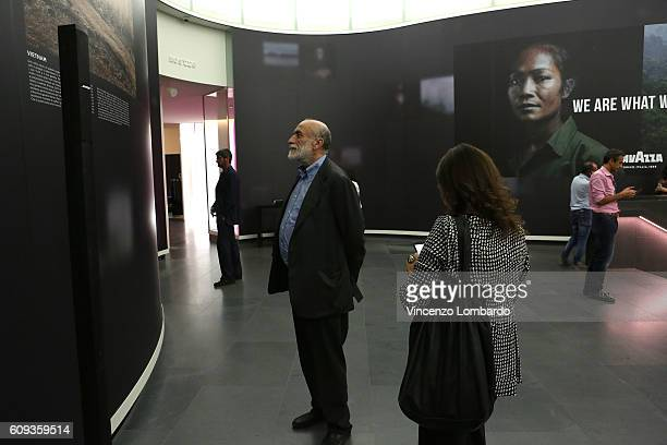 Carlo Petrini attends the 2017 Lavazza Calendar Presentation on September 20 2016 in Milan Italy