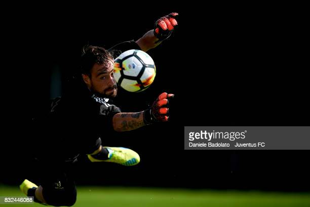 Carlo Pinsoglio during the morning training session at Juventus Center Vinovo on August 16 2017 in Vinovo Italy