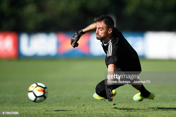 Carlo Pinsoglio of Juventus during a training session on July 16 2017 in Vinovo Italy
