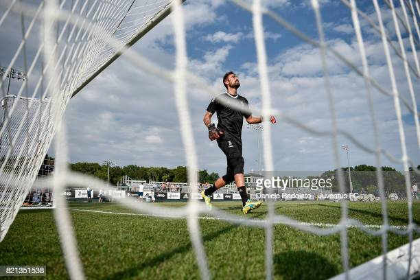 Carlo Pinsoglio of Juventus during the afternoon training session part of the Summer Tour 2017 by Jeep on July 23 2017 in Boston Massachusetts