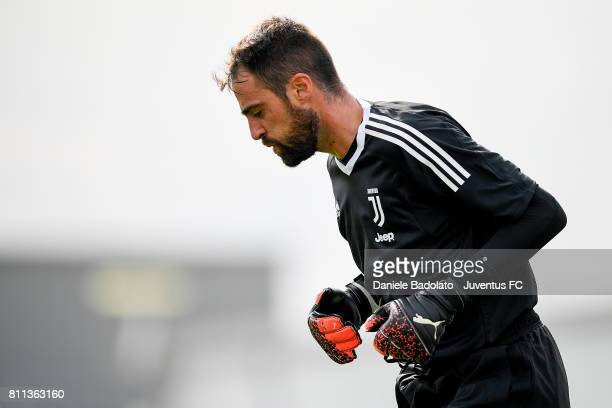 Carlo Pinsoglio of Juventus during the afternoon training session on July 9 2017 in Vinovo Italy