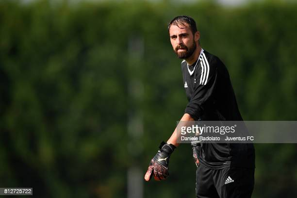 Carlo Pinsoglio of Juventus during the afternoon training session on July 11 2017 in Vinovo Italy