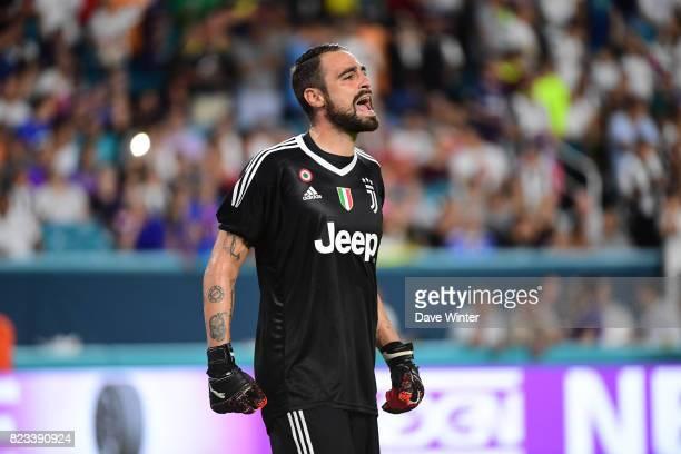 Carlo Pinsoglio of Juventus during the International Champions Cup match between Paris Saint Germain and Juventus Turin at Hard Rock Stadium on July...