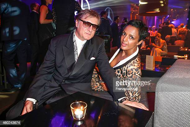 Carlo Rola and Dennenesch Zoude attend the Bambi Awards 2014 after show party on November 14 2014 in Berlin Germany