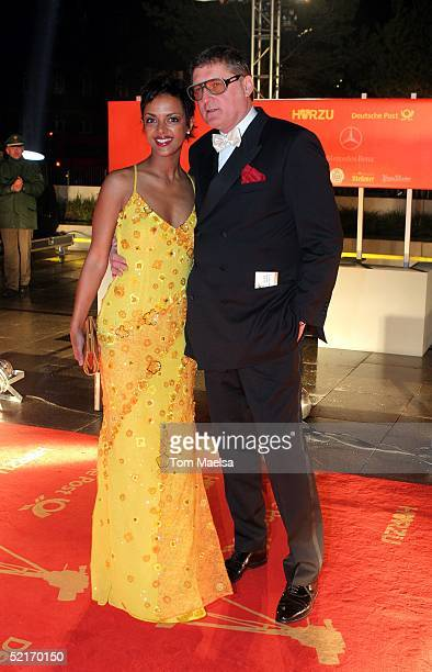 Carlo Rola Dennenesch Zoude arrive at the 'Goldene Kamera' Awards at Axel Springer Haus on February 9 2005 in Berlin Germany