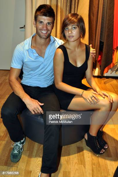 Carlo Romero and Tess Visser attend Opening Night of AMBER De VOS's 'Me Nycelf and Eye' Hosted By Patrick McMullan at BoConcept Chelsea on September...