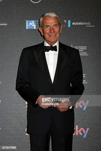 Carlo Rossella arrives at the 60 David di Donatello ceremony on April 18 2016 in Rome Italy