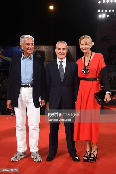 Carlo Rossella Giampaolo Letta and Rossana Letta attend 'Perez' Premiere during the 71st Venice Film Festival at Sala Grande on September 5 2014 in...