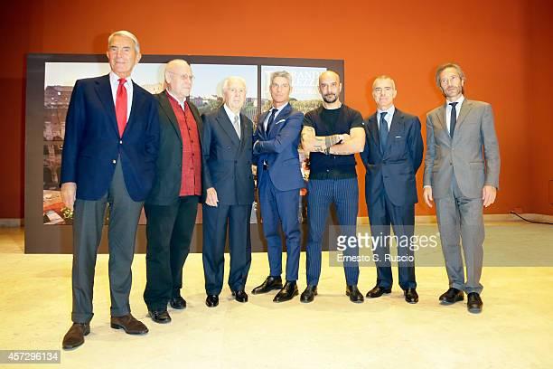 Carlo Rossella Marco Muller Paolo Ferrari Giampaolo Letta Giulio Gipponi Giorgio Restelli and Lamberto Mancini attend the Exhibition La Grande...