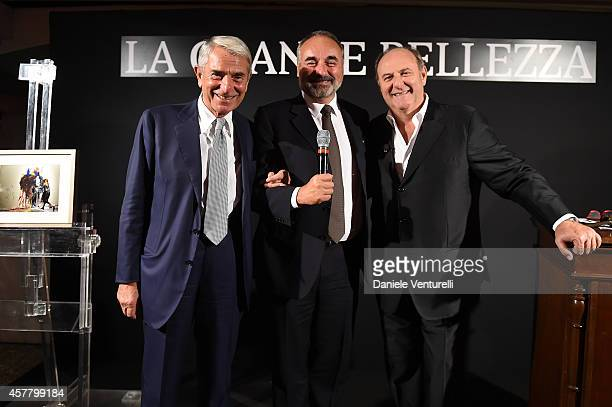 Carlo Rossella Maurizio Montecucco and Gerry Scotti attend the Gala Dinner 'La Grande Bellezza' during the 9th Rome Film Festival on October 24 2014...