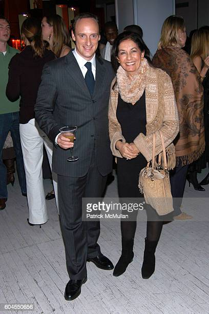 Carlo Teso and Soheir Khashoggi attend Giuliana Teso Host Forbes Life Winter Escape at Chivas Studio on November 3 2006 in New York City