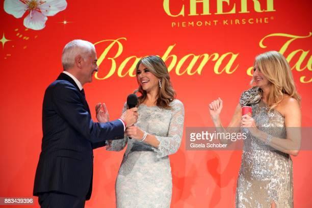 Carlo Vassallo Director Ferrero Germany Elizabeth 'Liz' Hurley and Frauke Ludowig during the Mon Cheri Barbara Tag at Postpalast on November 30 2017...