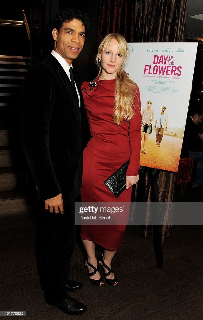 Carlos Acosta (L) and his wife Charlotte Holland attend an after party celebrating the UK Premiere of 'Day Of The Flowers' at The Mayfair Hotel on November 24, 2013 in London, England.