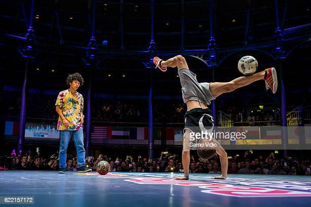 Carlos Alberto Iacono of Argentina competes during the finals of the freestyle football world championship Red Bull Street Style on November 06 2016...