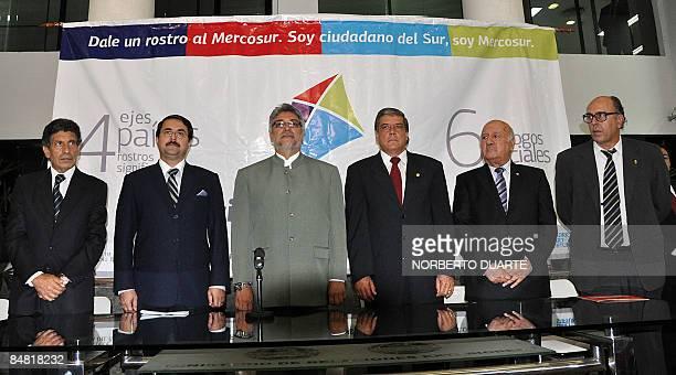 Carlos Alvarez MERCOSUR representatives' commission president Paraguayan Vicepresident Federico Franco Paraguayan President Fernando Lugo Paraguayan...