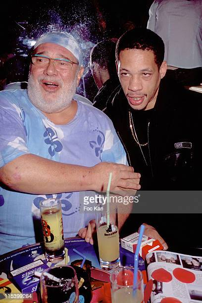 Carlos and Joey Starr during Frigide Barjot concert Party at Banana club in Paris France