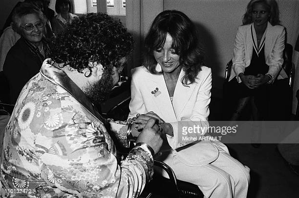 Carlos and Michele at the marriage in Deauville France on June 26 1978 At the background Francoise Dolto Carlos's mother and Sylvie Vartan