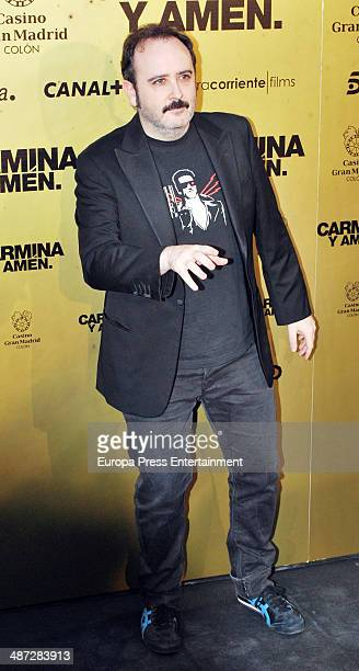 Carlos Areces attends 'Carmina Y Amen' Premiere on April 28 2014 in Madrid Spain