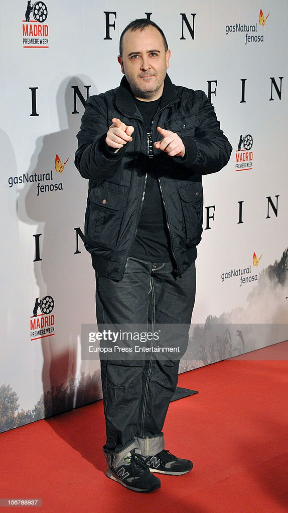 Carlos Areces attends 'Fin' premiere on November 20, 2012 in Madrid, Spain.