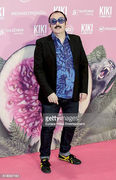 Carlos Areces attends 'Kiki el amor se hace' premiere at Capitol cinema on March 30 2016 in Madrid Spain
