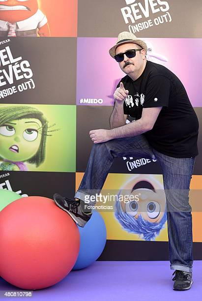 Carlos Areces attends the 'Inside Out' Premiere at Callao Cinema on July 15 2015 in Madrid Spain