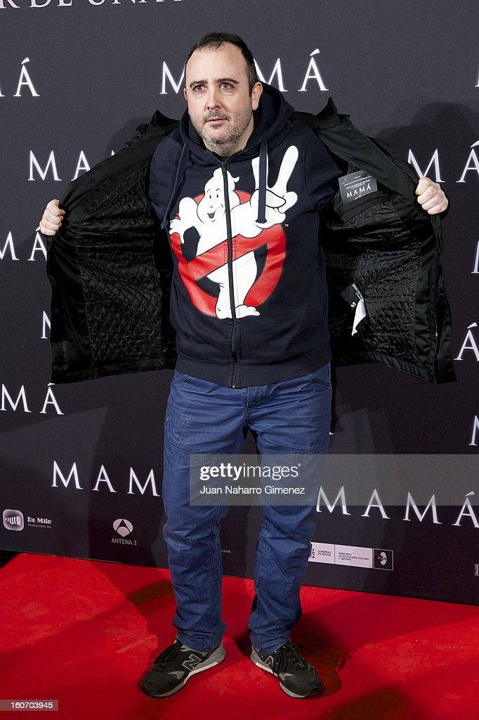 Carlos Areces attends the 'Mama' premiere at the Callao cinema on February 4, 2013 in Madrid, Spain.