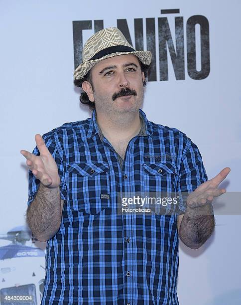 Carlos Areces attends the premiere of 'El Nino' at Kinepolis Cinema on August 28 2014 in Madrid Spain