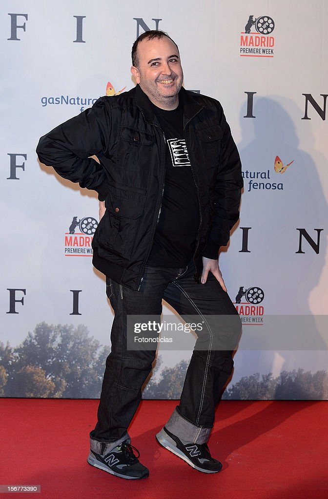 Carlos Areces attends the premiere of 'Fin' at Callao Cinema on November 20, 2012 in Madrid, Spain.