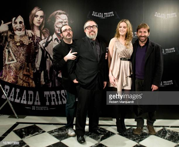 Carlos Areces director Alex de la Iglesia Carolina Bang and Antonio de la Torre attend the photocall for their latest film 'Balada Triste de...