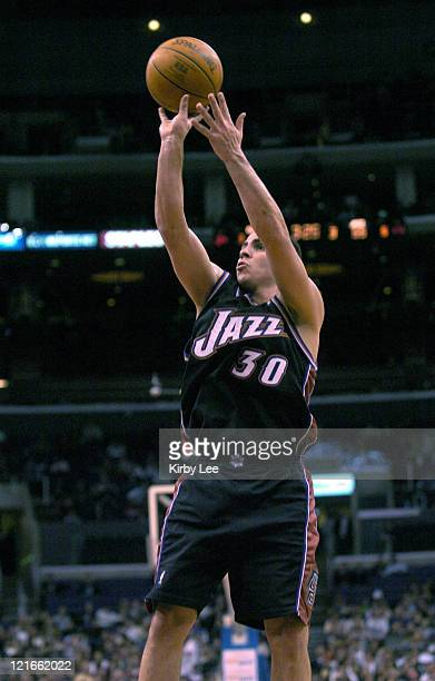 Carlos Arroyo of the Utah Jazz during 9382 defeat to the Los Angeles Clippers on Friday Jan 24 2004