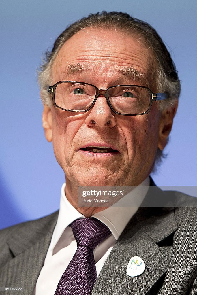 Carlos Arthur Nuzman, Brazilian Olympic Committee President and Rio 2016 Olympics Committee President during the press conference of 4th Meeting of IOC Coordination Commission for the Olympic Games at Windsor Hotel on February 20, 2013 in Rio de Janeiro, Brazil.