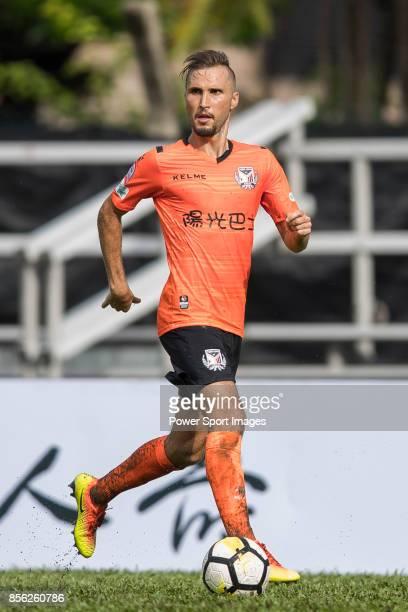 Carlos Augusto Bertoldi of Sun Bus Yeun Long in action during the Hong Kong Premier League Week 4 match between BC Rangers vs Sun Bus Yuen Long at...